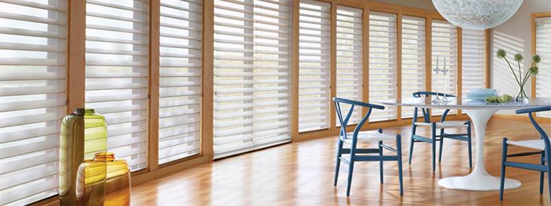 Shades and sheers from Hunter Douglas at Rainbow Paint and decorating.