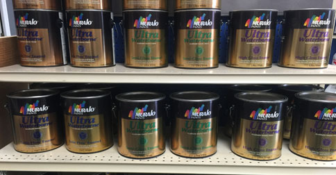 Product Variety at Rainbow Paint & Decorating