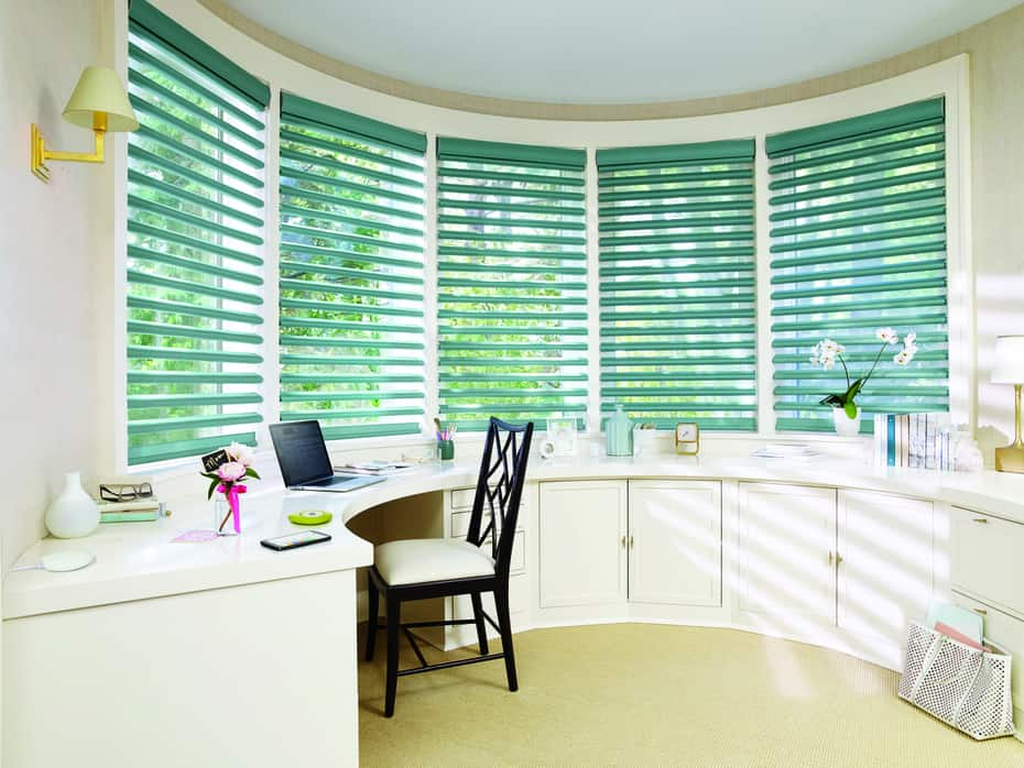 Benefits of Motorized Window Fashions in Homes near Birmingham Alabama (AL) like Pirouette Shades with PowerView
